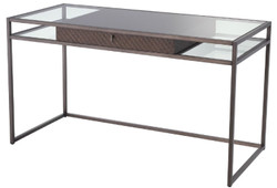 Casa Padrino luxury desk with drawer bronze 135 x 60 x H. 75.5 cm - Luxury Quality - Luxury Office Furniture
