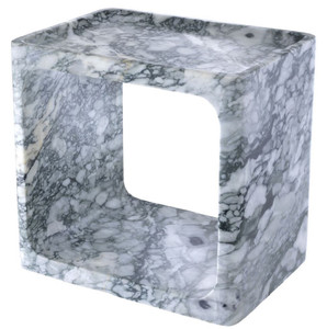 Casa Padrino luxury marble side table white 42 x 30 x H. 40 cm - Living Room Furniture - Luxury Furniture – Bild