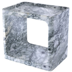 Casa Padrino luxury marble side table white 42 x 30 x H. 40 cm - Living Room Furniture - Luxury Furniture