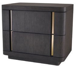 Casa Padrino luxury side table with 2 drawers mocha / brass 65 x 46 x H. 56 cm - Luxury Collection