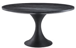 Casa Padrino luxury dining table black Ø 140 x H. 76 cm - Round Kitchen Table - Luxury Dining Room Furniture