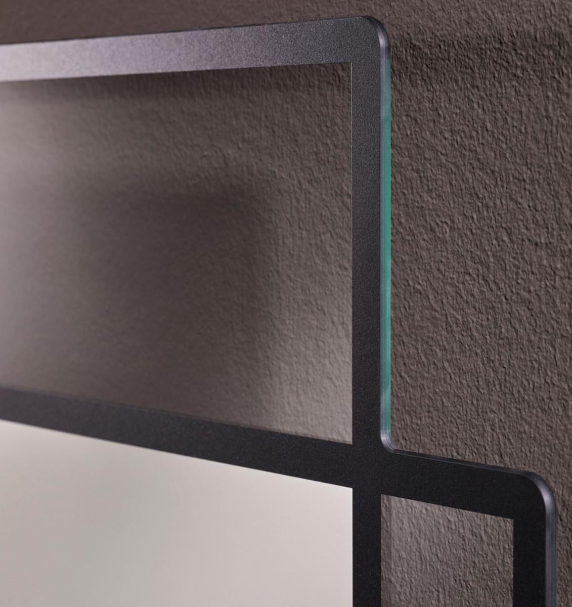 casa padrino designer wandspiegel schwarz 50 x h 170 cm