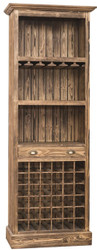 Casa Padrino Country Style Bar Cabinet Brown 78 x 41 x H. 210 cm - Solid Wood Wine Cabinet - Bar Furniture in Country Style