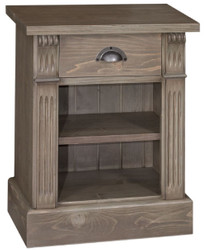 Casa Padrino country style bedside table with drawer and shelf brown 49 x 33 x H. 60 cm - Solid Wood Night Dresser - Bedside Cabinet - Country Style Bedroom Furniture