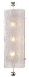 Casa Padrino Luxury Wall Lamp Silver / White 15.9 x 12 x H. 57.2 cm - Hotel & Restaurant Wall Sconce - Luxury Collection