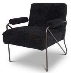 Casa Padrino Designer Armchair Black 69 x 78 x H. 78 cm - Living Room Armchair - Living Room Furniture - Luxury Quality