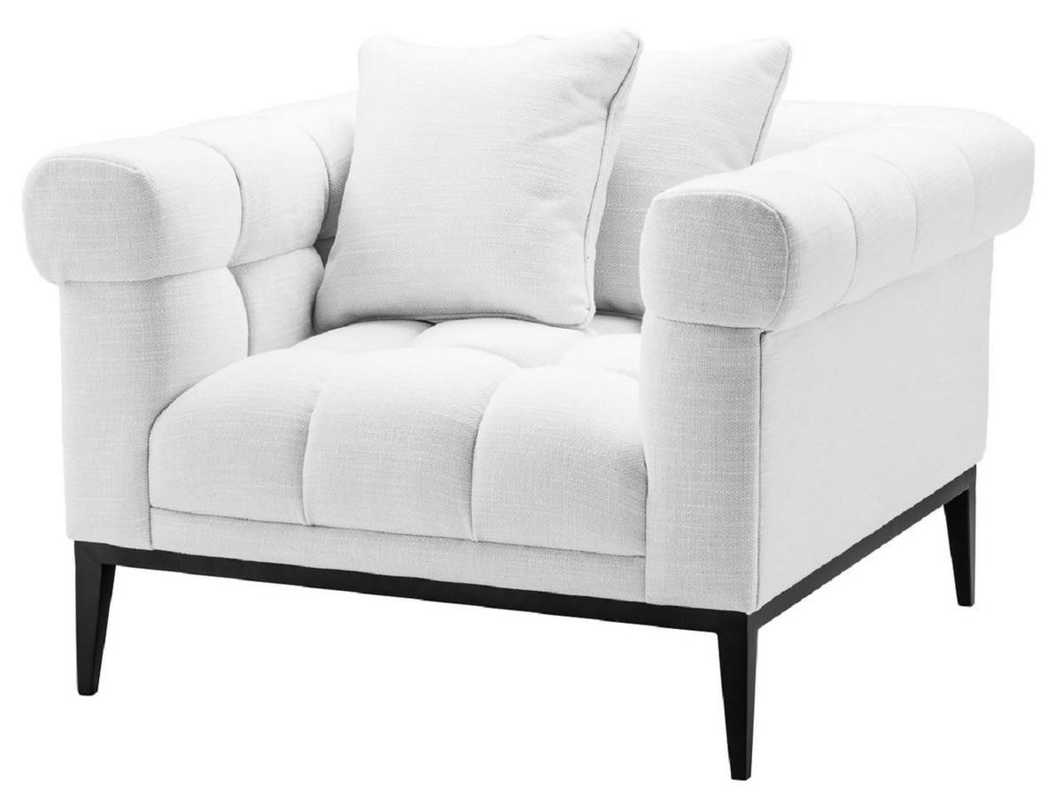 Casa Padrino Luxus Sessel Weiss Schwarz 91 x 99 x H 82 cm Wohnzimmer Sessel Luxus Wohnzimmer Moebel 7 JPG