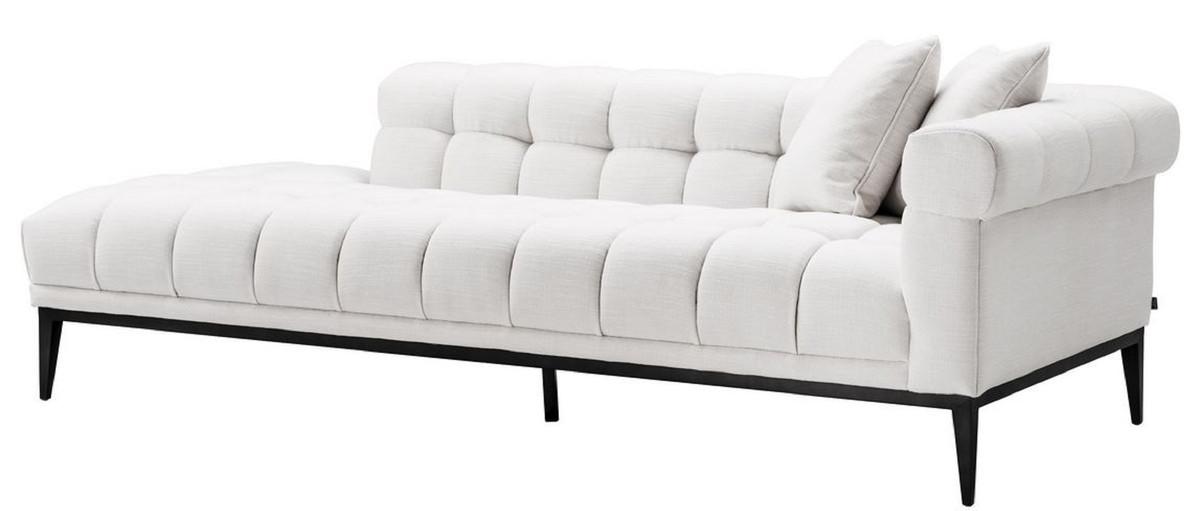 Casa Padrino Luxus Lounge Sofa Weiß / Schwarz 223 x 98 x H ...