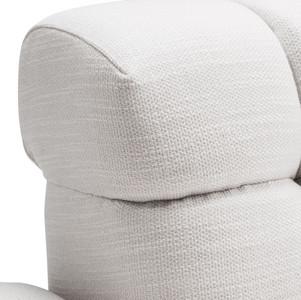 Casa Padrino Luxury Lounge Sofa White / Black 223 x 98 x H. 69 cm - Right Side Living Room Sofa with 2 Pillows - Luxury Quality – Bild 6