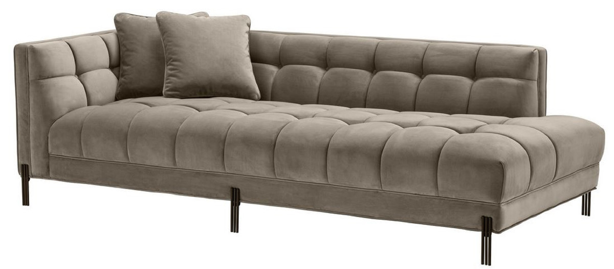 Casa Padrino Luxus Lounge Sofa Greige / Schwarz 223 x 95 x H ...
