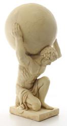 Casa Padrino Deco Sculpture Atlas Carries Globe Beige 34 x 38.3 x H. 68.6 cm - Resin Figurine - Deco Figurine