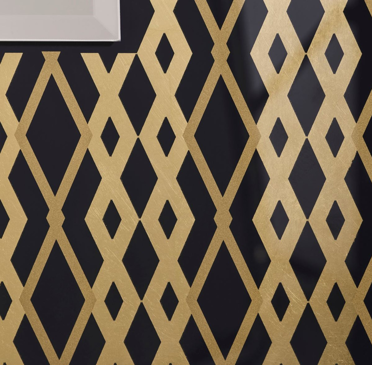 Casa Padrino Designer Wandspiegel Schwarz / Bronze / Gold 99 x H. 127 cm - Wohnzimmer Spiegel - Garderoben Spiegel - Luxus Qualität 2