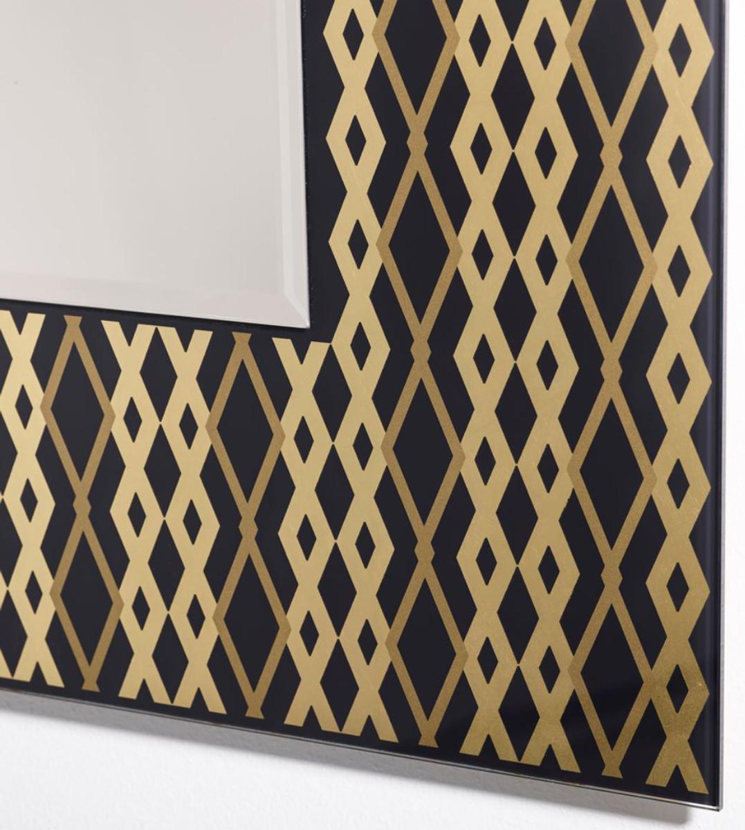 Casa Padrino Designer Wandspiegel Schwarz / Bronze / Gold 99 x H. 127 cm - Wohnzimmer Spiegel - Garderoben Spiegel - Luxus Qualität 3