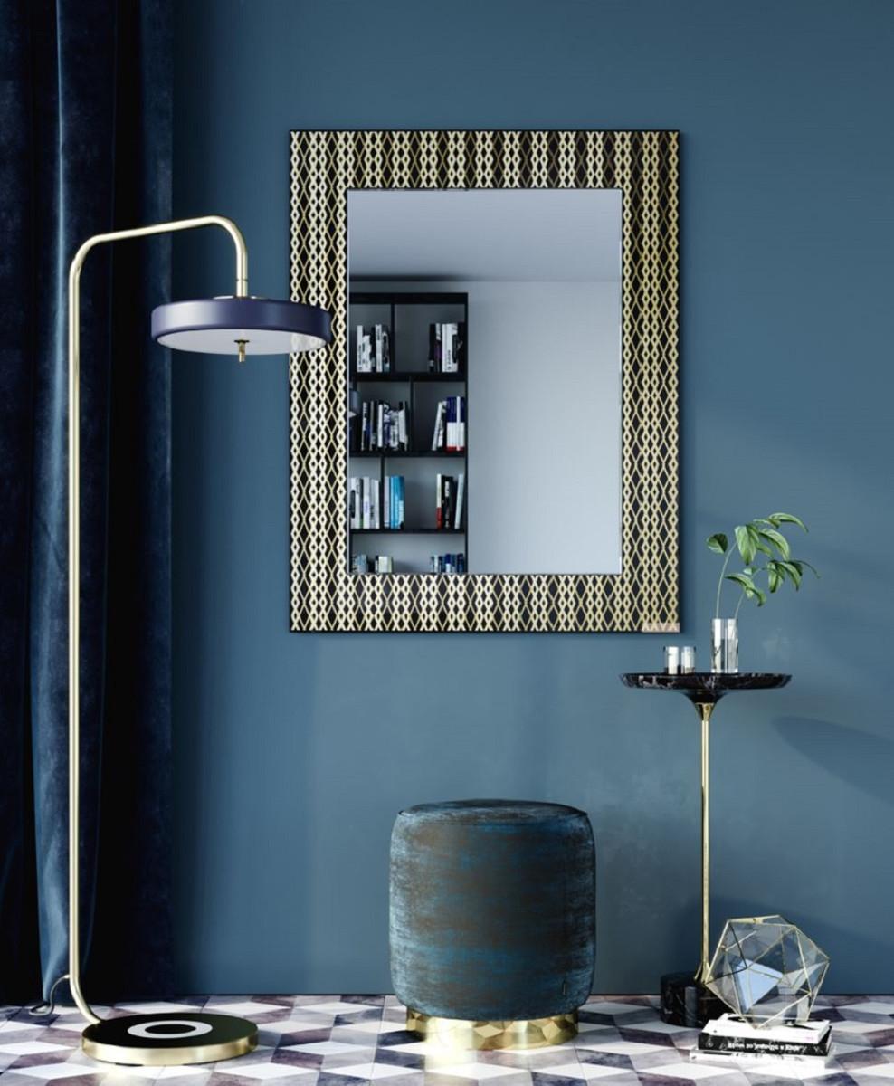 Casa Padrino Designer Wandspiegel Schwarz / Bronze / Gold 99 x H. 127 cm - Wohnzimmer Spiegel - Garderoben Spiegel - Luxus Qualität 5