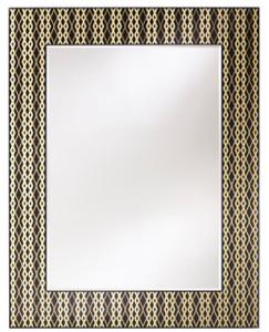 Casa Padrino Designer Wandspiegel Schwarz / Bronze / Gold 99 x H. 127 cm - Wohnzimmer Spiegel - Garderoben Spiegel - Luxus Qualität