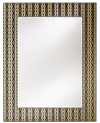 Casa Padrino designer wall mirror black / bronze / gold 99 x H. 127 cm - Living Room Mirror - Wardrobe Mirror - Luxury Quality