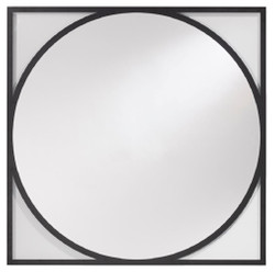 Casa Padrino luxury wall mirror black 90 x H. 90 cm - Living Room Mirror - Wardrobe Mirror - Luxury Collection