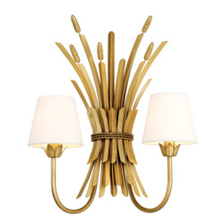 Casa Padrino luxury wall light Antique Gold 47 x 24 x H. 53 cm - Hotel & Restaurant wall lamp