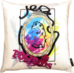 Harald Glööckler Designer Cushion Pompöös by Casa Padrino with rhinestones Princess in Mirror - Art Collection -