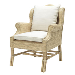 Casa Padrino designer rattan chair natural colors 70 x 80.5 x h. 98.5 cm - luxury living room furniture