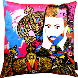 Harald Glööckler Designer Cushion Pompöös by Casa Padrino Face - Art Collection -