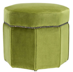 Casa Padrino luxury stool light green / antique brass 46 x 46 x H. 44 cm - 8 Angular Stool - Luxury Furniture
