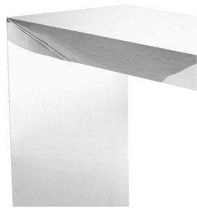 Casa Padrino Luxury Console Silver 155 x 45 x H. 76 cm - Stainless Steel Console Table - Luxury Quality – Bild 2