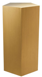 Casa Padrino luxury stainless steel pillar copper 42 x 40 x H. 80 cm - Luxury Living Room Furniture