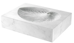 Casa Padrino luxury desk deco white 24 x 18 x H. 5.5 cm - Marble Deco Object - Deco Accessories