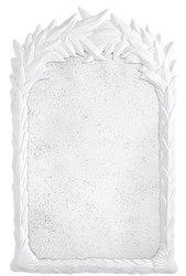 Casa Padrino luxury mirror white / antique mirror glass 82 x 5 x H. 130 cm - Wall Mirror in Colonial Style - Luxury Collection