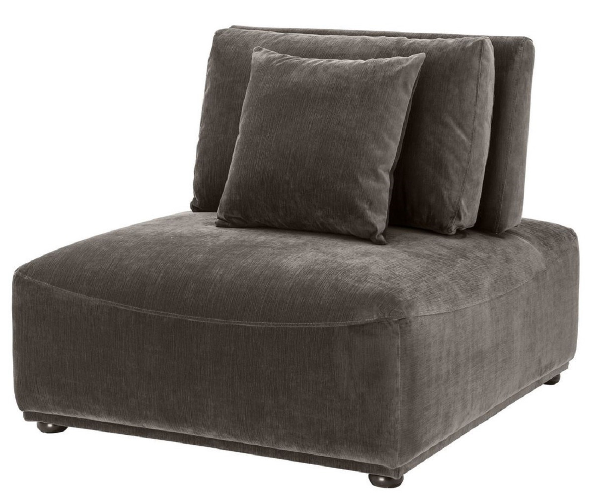 Casa Padrino luxury armchair gray / black 200 x 200 x H. 200 cm - Living Room  Armchair with Backrest and 20 Pillows - Living Room Furniture