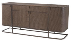Casa Padrino luxury dresser with 4 doors and drawer brown / bronze 170 x 46 x H. 75 cm - Luxury Quality