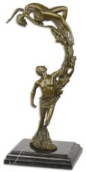 Casa Padrino Luxury Bronze Sculpture with Marble Base Dancer Couple Bronze / Black 18.3 x 12.9 x H. 36.2 cm - Bronze Figure - Deco figure - Decoration Accessories