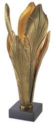 Casa Padrino Designer Tischleuchte Antik Gold / Schwarz 23 x 23 x H. 57,5 cm - Tischlampe mit Granitsockel - Luxus Kollektion