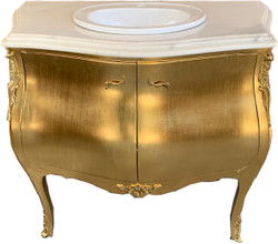 Casa Padrino luxury baroque washstand dresser gold with marble top - luxury baroque bathroom furniture