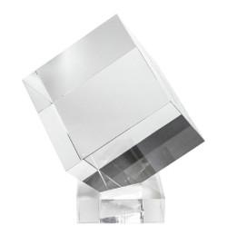 Casa Padrino luxury decorative acrylic cube with holder 20 x 20 x H. 20 cm - Desk Decoration - Office Decoration - Living Room Decoration - Luxury Quality
