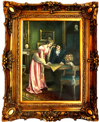 Casa Padrino Baroque oil painting society portrait gold pompous frame 101 x H. 80 cm - Baroque furniture