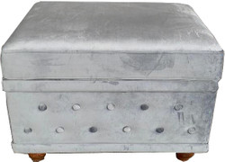 Chesterfield designer footstool antique gray antique look from Casa Padrino