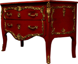 Casa Padrino Baroque Dresser Red / Gold Antique Style 130 cm - Handmade from solid wood - Limited Edition