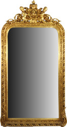 Casa Padrino Baroque Wall Mirror Gold 100 x H. 186 cm - Magnificent Baroque mirror with beautiful decorations