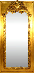 Casa Padrino Baroque wall mirror gold antique style 85 x H. 190 cm - Magnificent Baroque mirror with beautiful decorations
