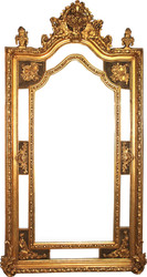 Giant Casa Padrino Baroque wall mirror gold antique style 115 x H. 215 cm - Magnificent Baroque mirror with beautiful decorations