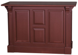Casa Padrino country style bar counter burgundy red 140 x 68 x H. 95 cm - Solid Wood Bar Counter with Door and 2 Drawers - Country Style Furniture