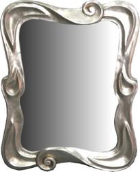 Casa Padrino Art Nouveau Mirror Silver 80 x H. 100 cm - Wardrobe Mirror - Wall Mirror - Baroque & Art Nouveau Decoration Accessories
