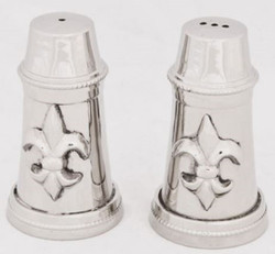 Casa Padrino Baroque Salt & Pepper Shaker Set with Decorative French Lily Silver - Kitchen Accessories