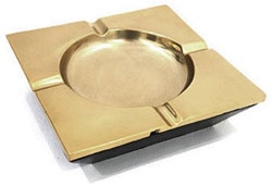 Casa Padrino ashtray antique brass 15 x 15 cm - Square Aluminum Ashtray - Deco Accessories