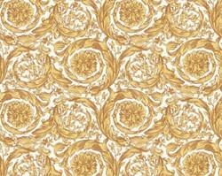 Versace Designer Baroque Non-Woven Wallpaper IV 36692-5 - Gold / White - Design Wallpaper - High Quality