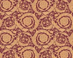 Versace Designer Baroque Non-Woven Wallpaper IV 36692-7 - Gold / Bordeaux Red - Design Wallpaper - High Quality
