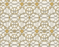 Versace Designer Baroque Non-Woven Wallpaper IV 37049-2 - Cream / Silver / Gold - Design Wallpaper - High Quality