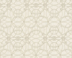 Versace Designer Baroque Non-Woven Wallpaper IV 37049-3 - Beige / Cream / White - Design Wallpaper - High Quality